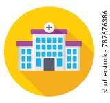 hospital flat colored  icon   | Shutterstock .eps vector #787676386