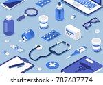 pharmacy concept. modern 3d...   Shutterstock .eps vector #787687774