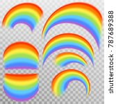 set of realistic colorful... | Shutterstock .eps vector #787689388