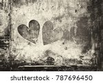 Graffiti Heart On The Wall In...