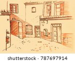 architectural sketch in color... | Shutterstock . vector #787697914