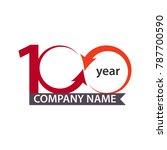 100 year company vector... | Shutterstock .eps vector #787700590