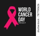 world cancer day vector... | Shutterstock .eps vector #787700626