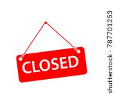 closed label vector template... | Shutterstock .eps vector #787701253