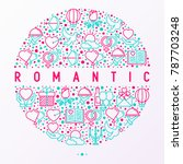 romantic concept in circle with ... | Shutterstock .eps vector #787703248