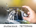 travel concept. hand hold a... | Shutterstock . vector #787709446