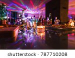 colorful glasses on a glass bar ...   Shutterstock . vector #787710208