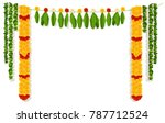 Indian Garland Of Flowers And...
