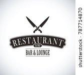 black restaurant logo | Shutterstock .eps vector #787714870