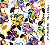 floral seamless pattern... | Shutterstock .eps vector #787715029