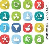 flat vector icon set   molecule ... | Shutterstock .eps vector #787715374