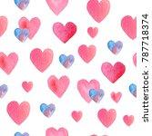 seamless hand drawn pattern... | Shutterstock . vector #787718374