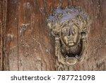 door knocker in the form of a... | Shutterstock . vector #787721098