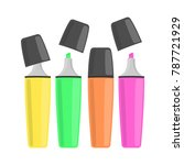 highlighter magic pen | Shutterstock .eps vector #787721929