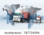 transportation  import export... | Shutterstock . vector #787724596