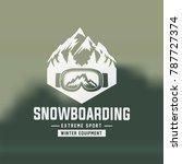 snowboarding emblems  labels...   Shutterstock .eps vector #787727374