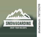 snowboarding emblems  labels... | Shutterstock .eps vector #787728298