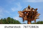 historic siberian wooden horse...   Shutterstock . vector #787728826