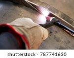 welder  craftsman  erecting... | Shutterstock . vector #787741630