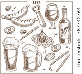 beer of high quality and tasty... | Shutterstock .eps vector #787742764
