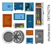 armored metal safes full of... | Shutterstock .eps vector #787742776