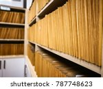 archive files  office paperwork ... | Shutterstock . vector #787748623