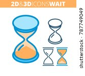 the hourglass. flat and...   Shutterstock .eps vector #787749049