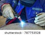 welder  craftsman  erecting... | Shutterstock . vector #787753528