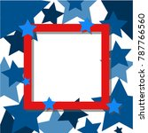 star frame red  decorated... | Shutterstock .eps vector #787766560