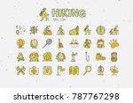 trekking travelling icon... | Shutterstock .eps vector #787767298