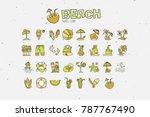 summer tropical beach icon... | Shutterstock .eps vector #787767490