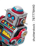 vintage tin robot toy isolated... | Shutterstock . vector #787778440