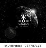 planet uranus in the form of... | Shutterstock . vector #787787116