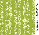 seamless floral pattern   Shutterstock .eps vector #787788904