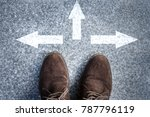 man standing on road with three ... | Shutterstock . vector #787796119
