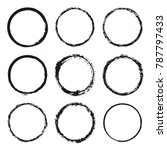 vector set of round frames and... | Shutterstock .eps vector #787797433
