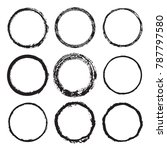 vector set of round frames and... | Shutterstock .eps vector #787797580