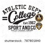 sports graphic design | Shutterstock .eps vector #787801840