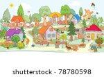 vector illustration  cute... | Shutterstock .eps vector #78780598