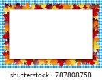 oktoberfest frame with leaves | Shutterstock . vector #787808758