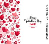 happy saint valentine's day... | Shutterstock .eps vector #787811278