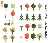 a set of trees for different... | Shutterstock .eps vector #787811596