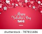 happy saint valentine's day... | Shutterstock .eps vector #787811686