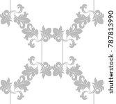 seamless floral pattern swirl...   Shutterstock .eps vector #787813990
