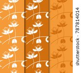floral seamless pattern with...   Shutterstock .eps vector #787814014