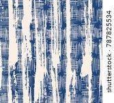 indigo vector tie dye seamless... | Shutterstock .eps vector #787825534