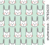 vector seamless pattern with... | Shutterstock .eps vector #787826233