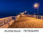 illuminated pier in puck at... | Shutterstock . vector #787836490