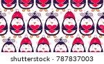 cute penguins seamless pattern  ... | Shutterstock .eps vector #787837003
