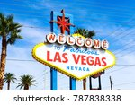 the welcome to fabulous las... | Shutterstock . vector #787838338